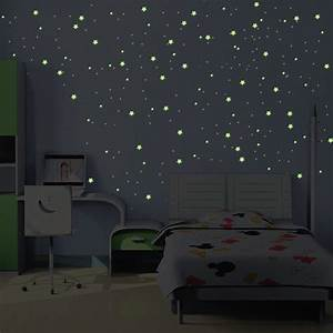 stickers phosphorescents 240 etoiles et planetes taille With carrelage adhesif salle de bain avec sapin noel led