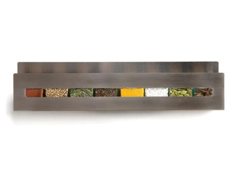 designer spice rack aperture spice rack in stainless steel by desu design