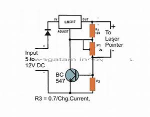 The Post Explains A Simple Laser Pointer Power Supply Circuit Which Has A Precise Voltage And