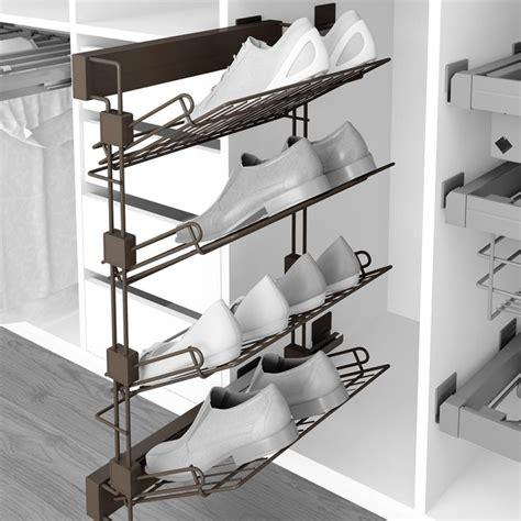 Emuca Zapatero lateral extraíble para interior de armario