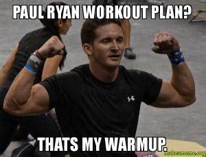 Paul Ryan Workout Meme - exercise kappit