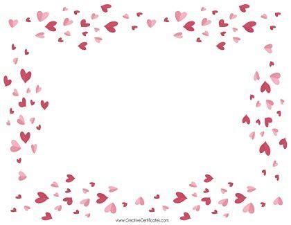heart border templates