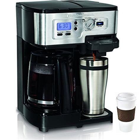 Brew up to 10 ounce. Hamilton Beach 2-Way FlexBrew 12-Cup Coffeemaker + Copco To Go Cup Bundle » Best Rated Coffee Makers