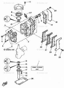 Yamaha Outboard Parts By Hp 8hp Oem Parts Diagram For Cylinder Crankcase