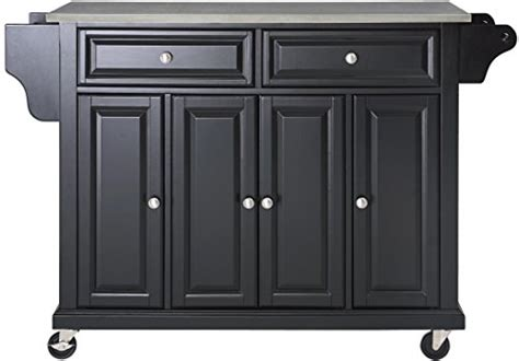 Crosley Furniture Rolling Kitchen Island With Stainless