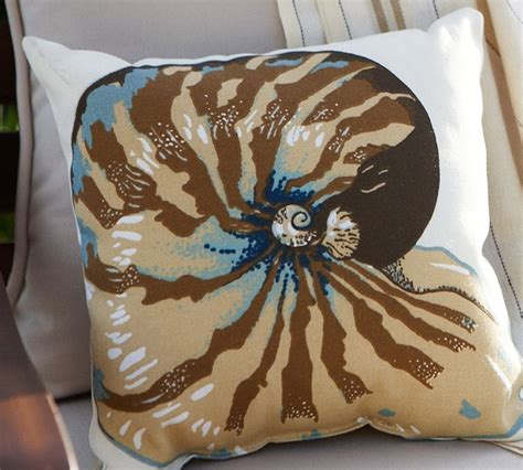 Pottery Barn Fabric Sles by Fabric Freak Ff Nautilus Shell Outdoor Fabric Pillow
