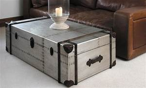 steel trunk coffee table coffee table design ideas With metal chest coffee table