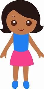 Little Black Girl Clipart