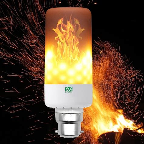 warm white ywxlight b22 led flame effect fire light bulbs
