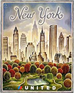 New York Poster : new york vintage poster united airlines life is a journey usa pinterest united airlines ~ Orissabook.com Haus und Dekorationen