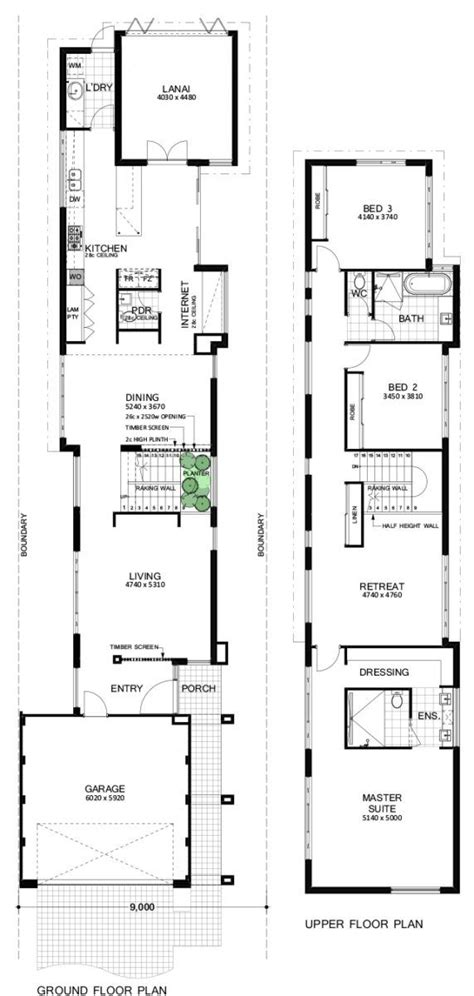 modern luxury home designs perth narrow house designs narrow house plans architectural floor