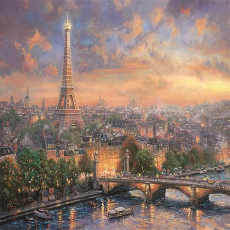 paris city  love  thomas kinkade decalgirl