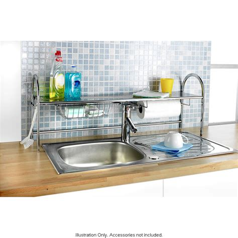 over the sink shelf kitchen extra long kitchen roll over sink tap storage tidy holder