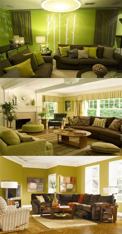 Decorating Ideas For Living Room Brown by Green And Brown Living Room Decor Interior Design