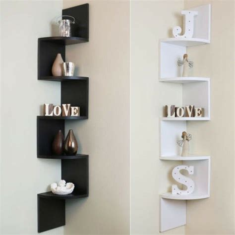 tier corner shelf floating wall shelves storage display