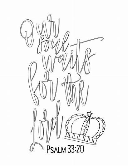Coloring Printable Psalm Simple Lord Advent Wait