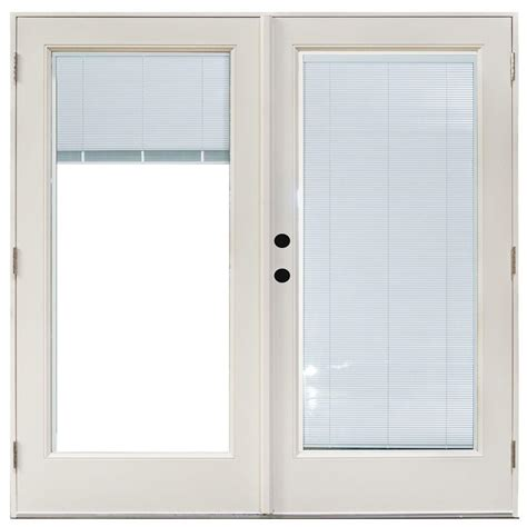 outswing patio doors with blinds masterpiece 70 3 4 in x 79 1 4 in fiberglass white right