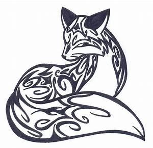 Tribal Fox Tattoo Design | Tattoo ideas.... ;) | Pinterest ...