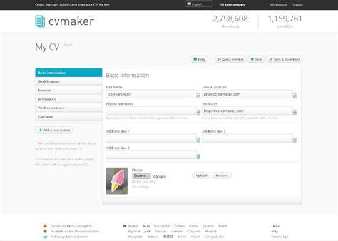 Online Cv Creator Five Paragraph Essay Outline Online Cv Maker With