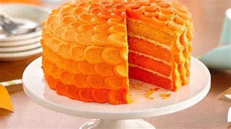 orange colored desserts tangerine ombre cake recipe from betty crocker