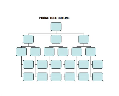 phone tree template  word  excel documents