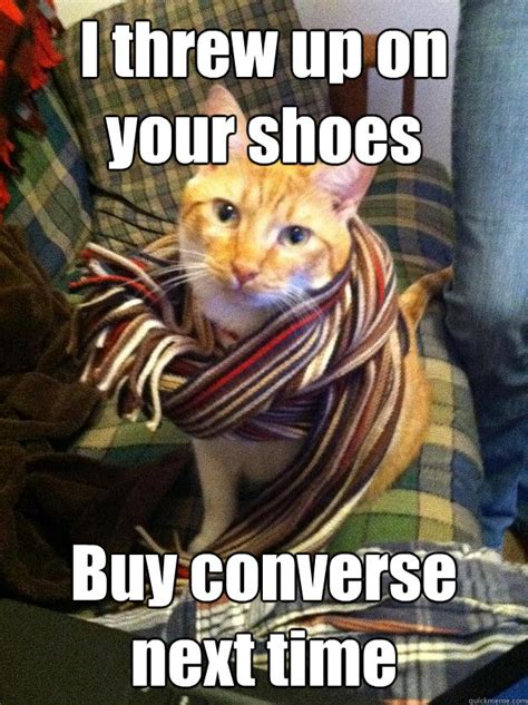 Buy All The Shoes Meme - i threw up on your shoes buy converse next time misc quickmeme
