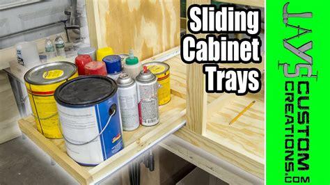 easy diy   cabinet trays  youtube