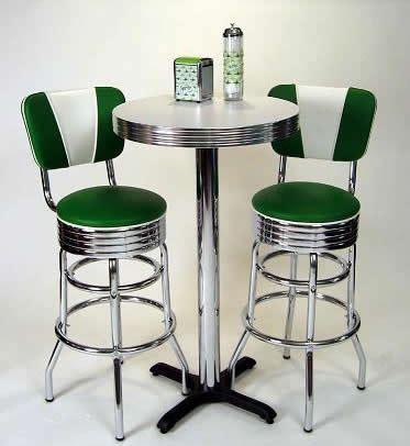 Pub Table Sets: Retro, Bar, Kitchen, Restaurant, Diner, USA