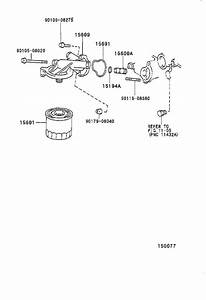 2000 Toyota Tacoma Engine Oil Filter Adapter Gasket  Gasket  Oil Filter Bracket