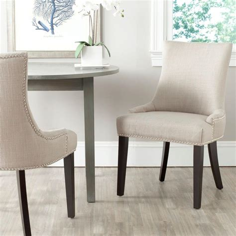 Safavieh Dining Chair safavieh lester antique gold cotton blend dining chair