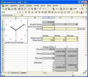 Makros Berechnen : gf eine analoguhr in excel mit tabellen makros und diagrammen ~ Themetempest.com Abrechnung