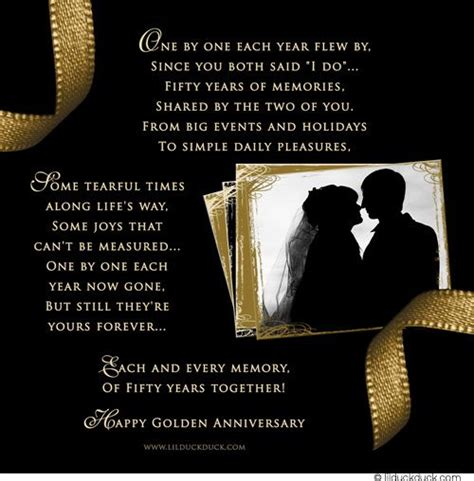 golden wedding anniversary poems google search