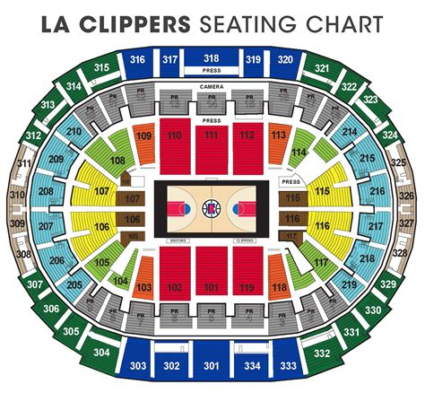 Clippers Seating Chart  Clippers Suite Tickets Clippers