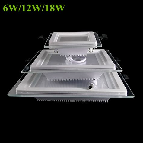 square led lights 6w 12w 18w dimmable led panel light square glass led