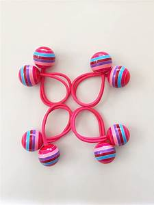 Big balls hair ties double ball elastic bands. Pair of fun Balls and Bands
