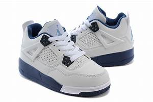 Kids Nike Jordan Shoes 4 White Blue Outlet Factory Store ...
