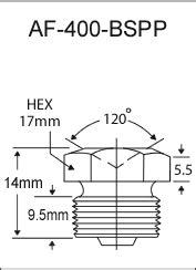 """3/8""""-19 BSPP Flush Type Zerk Fittings"""
