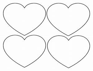 Free printable heart templates large medium small for Small heart template to print