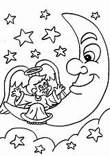 Moon Coloring Pages Print sketch template