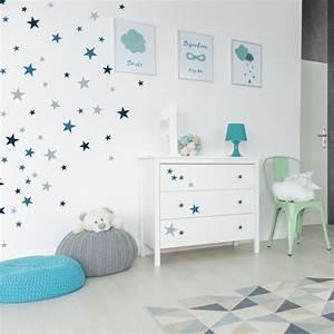 Wandtattoo Für Kinderzimmer : wandtattoo sterne f r das kinderzimmer blau ~ A.2002-acura-tl-radio.info Haus und Dekorationen