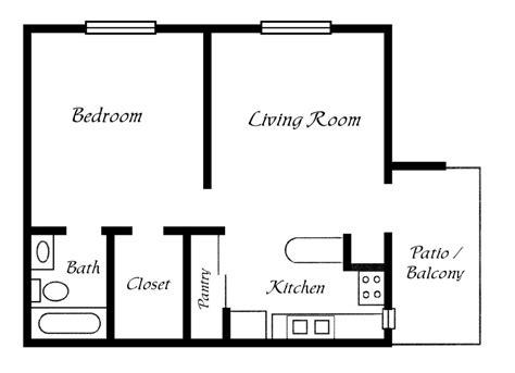 one bedroom floor plan one bedroom trailer floor plans studio design
