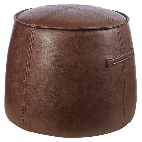 living space faux leather ottoman