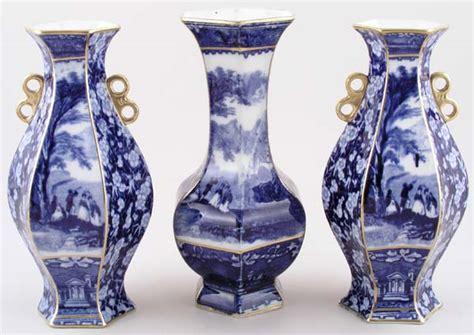 Wilkinson Vases by Wilkinson Lind Garniture Of Vases C1896 Of