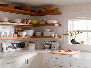 etagere d angle pour rangement cuisine pratique With deco cuisine pour etagere