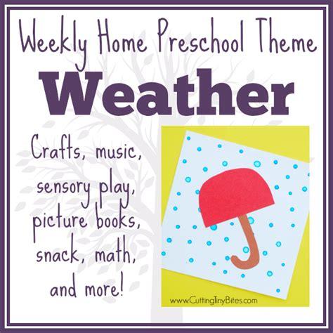 cutting tiny bites weather theme weekly home preschool 230 | WeatherTheme