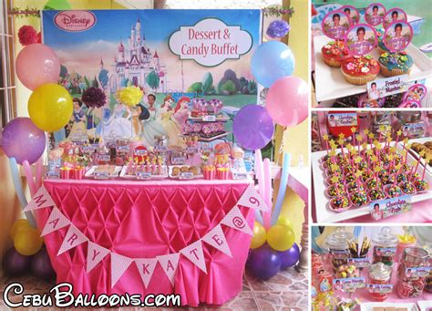 Dessert Buffet (Decors, Cake, Pastries & Candies)   Cebu Balloons and Party Supplies
