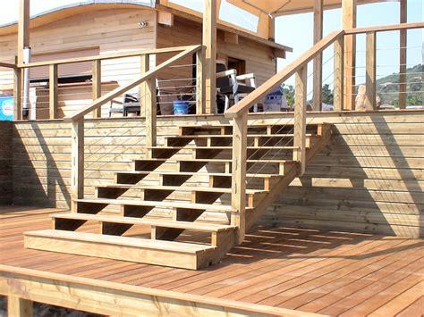 plan escalier bois exterieur obasinc