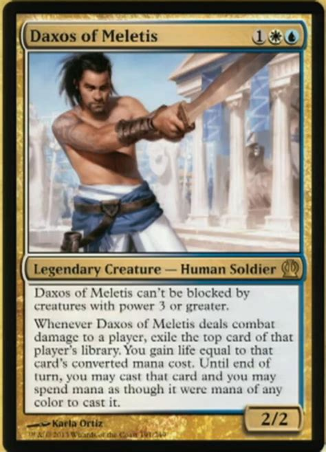 mtg daxos commander meletis voltron magic deck gathering edh cards gain card win steal theros guy game