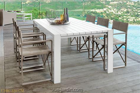 Table Jardin Aluminium Blanc Menuiserie