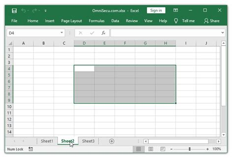 select ranges   worksheets  excel